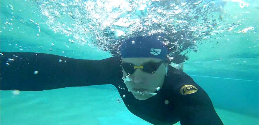 Ни дня без спорта! Плаванье в Тунисе