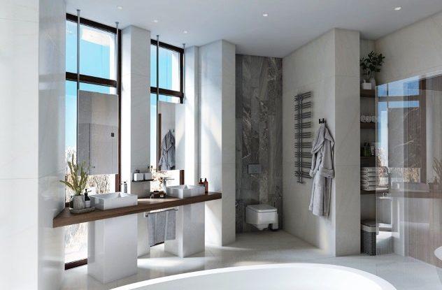Ванная комната с окнами: красота VS практичность